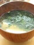 モロヘイヤと豆腐のお味噌汁