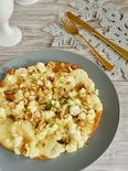 カリフラワーとチーズのガレット仕立て