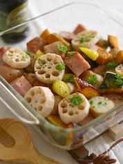 根菜のオーブン焼き