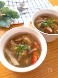 3分で完成するハマるスープ♡もずくとかにかまの和風スープ
