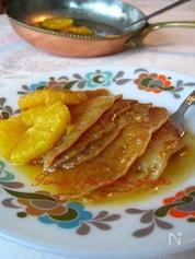 イギリスパンケーキinオレンジバター