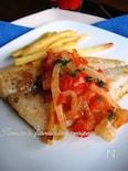 白身魚のジューシートマトソース添え&シャキポテト