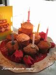 カップケーキの誕生日デコレーション♪
