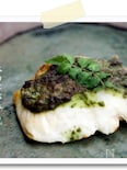 【白身魚の木の芽ソースグリエ】