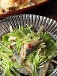 【水菜と南蛮漬けのパパッとサラダ】