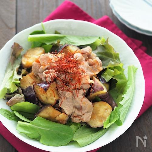 豚肉と茄子の冷しゃぶサラダ
