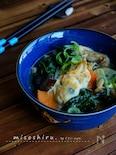 ほっこり♡牡蠣とホウレン草の食べる味噌汁!
