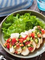 オイル蒸し鶏の夏野菜ドレッシングがけ【#冷凍保存#下味冷凍】