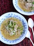 豚バラもやしのとろみ和風スープ鍋