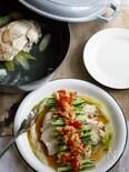 「鶏胸肉で蒸し鶏&簡単ポン酢ソース」【STAUBレシピ】