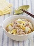 白菜と豚のこっくり梅味噌蒸し