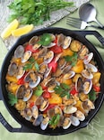 サフラン不要!夏野菜とアサリのパエリア