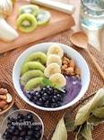 ブルーベリーボウル。朝食、おやつに♪フルーツたっぷり!