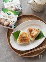 カマンベールチーズの味噌焼きおにぎり。