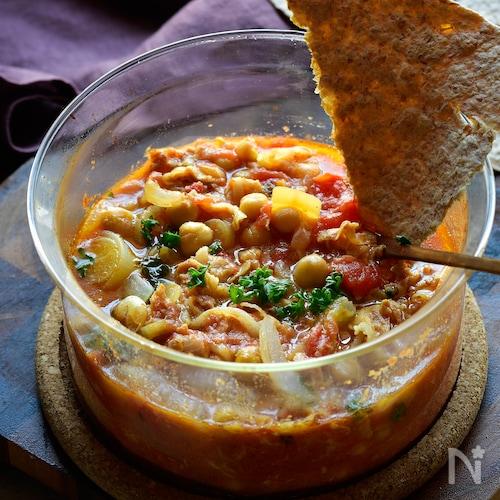 ジューシー❤豆トマト豚煮込み