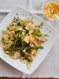 焼きアスパラと筍のミモザサラダ