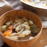 『根菜ときのこのけんちん汁』#具だくさん#野菜たっぷり