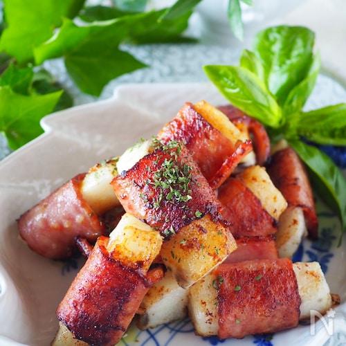 ご飯がススムカレー味!ホクホク長芋のベーコンロール