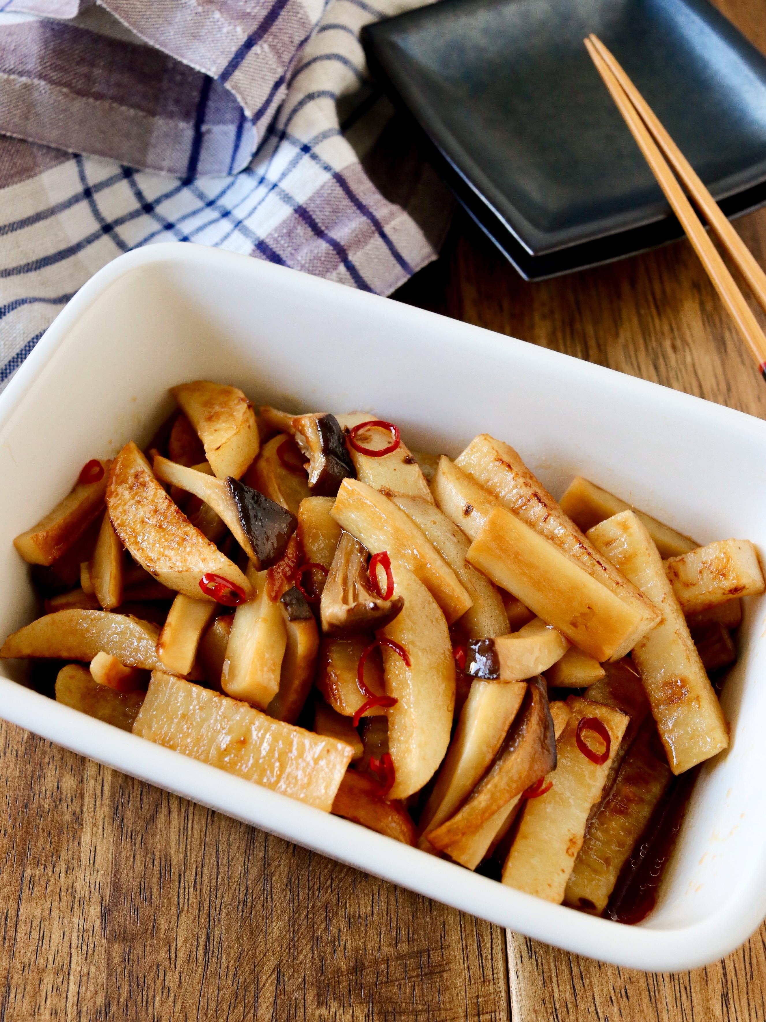 作り置き*長芋とエリンギのぽん酢マリネ