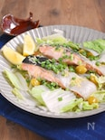 【レンジで簡単!】鮭と白菜の重ね蒸し