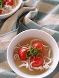 レンジで作るトマトとしらすのさっぱり味噌汁