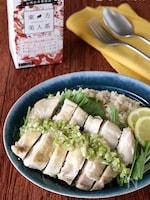 紅茶風味のカオマンガイ(はちみつレモンねぎソース)