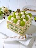 マスカットのデコレーションケーキ