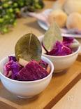 紫キャベツとりんごのピクルス。