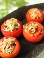 トマトカップDEかにきゅうサラダ