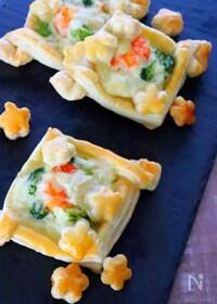 『冷凍パイシートで作る!簡単えびグラタンパイの作り方レシピ』