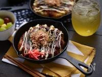 金芽米で作るお好み焼き風