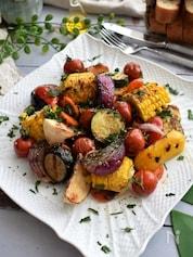 香ばしい グリル野菜の盛り合わせ