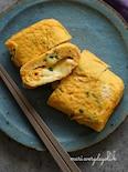 コツひとつ♪とろとろチーズ入り小葱としらすの甘いたまご焼き