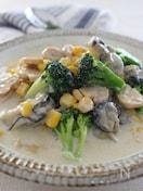 カキとブロッコリーの豆乳スープ