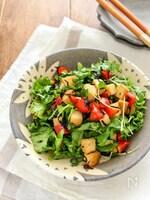 栄養バランス◎ 厚揚げとトマトの中華風サラダ