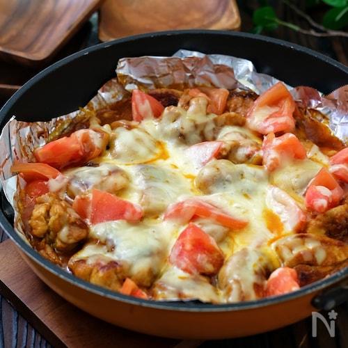 *タンドリー風チキンとトマトのチーズ焼き*