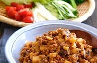 大豆ミート肉味噌のレタス巻き