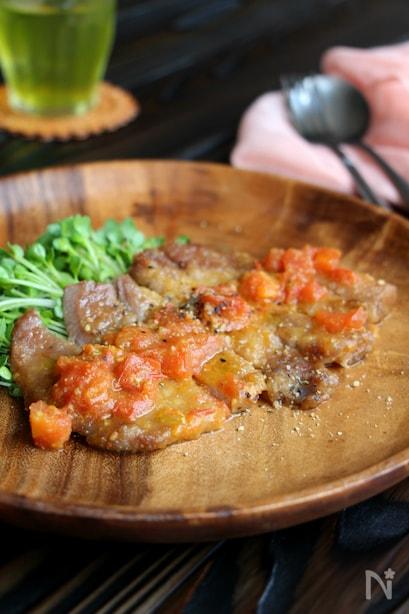 豚肉のトマト照焼き