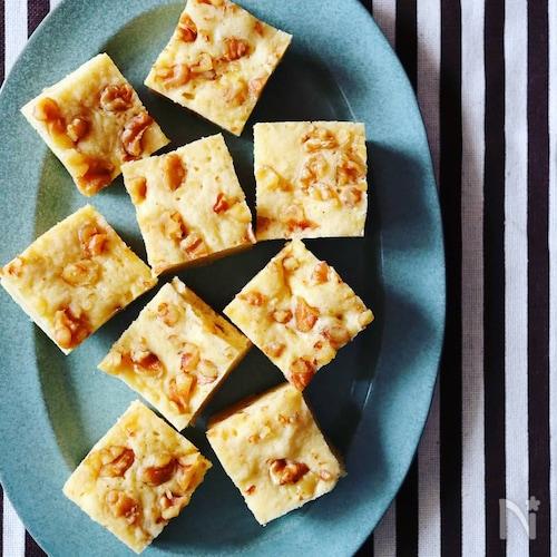簡単レンジで4分!ふんわりバナナケーキ(バター不使用)
