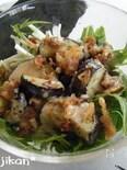 水菜となすのサラダ