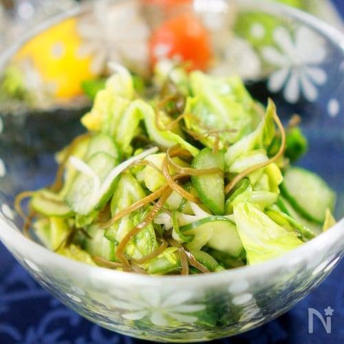 春キャベツと胡瓜の和風ピクルス
