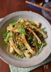 『水菜と油揚げの香味醤油サラダ』