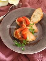 トマトとアンチョビの温かいブルスケッタ