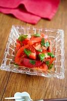 【トマトと大葉の和風マリネ】3分で簡単♬︎トマトが甘い♡