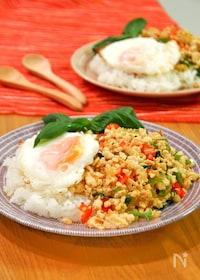 『ガパオライス。簡単&本格タイ料理のワンプレートランチ。』