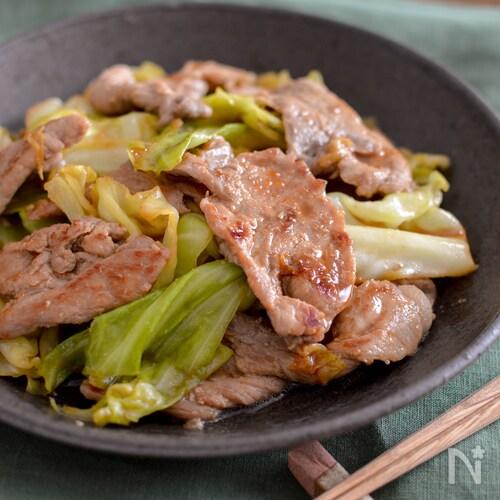 豚肉とキャベツの焼肉のたれ炒め。包丁不要!簡単おかず。