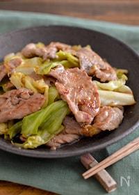 『豚肉とキャベツの焼肉のたれ炒め。包丁不要!簡単おかず。』