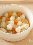【離乳食中期・後期】お豆腐肉だんごと野菜煮