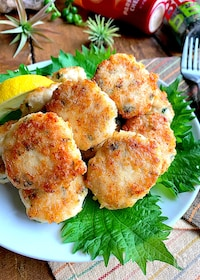 『肉感チーズ感しっかり♡簡単ささみ紫蘇チーズナゲット』