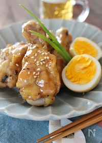 『鶏手羽元の甘辛炒め煮』